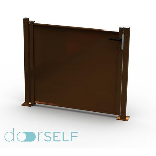 Kit puerta para valla blind óxido 116x93,5 cm
