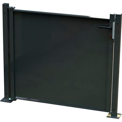 Kit puerta para valla blind gris forja 116x93,5 cm