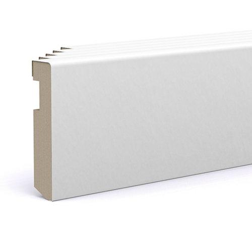 Pack 5 rodapié lacado blanco 70x15x2200