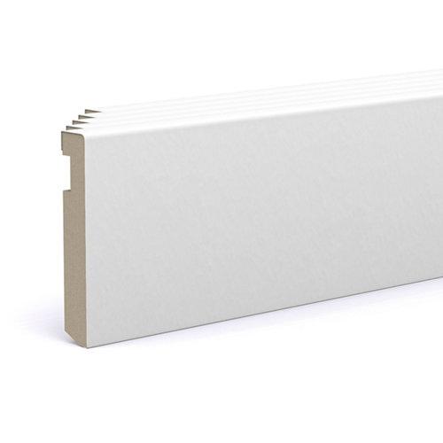 Pack 5 rodapié lacada blanco 90x15x2200