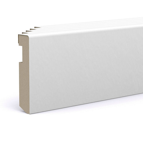 Pack 5 rodapié lacado blanco 100x15x2200