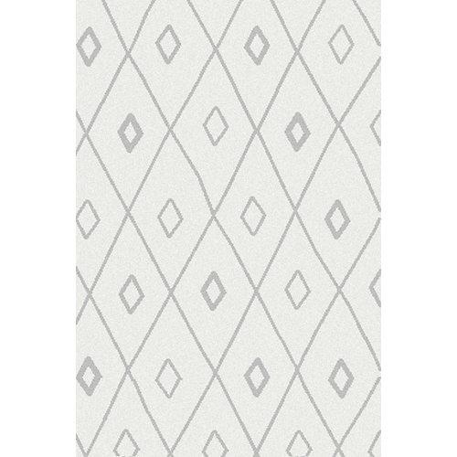 Alfombra blizz rhombus blanco 160x230 cm