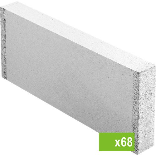 Lote de 68 bloque de hormigón celular ytong 7x50x62,5 cm