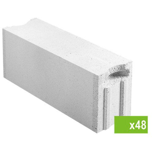 Lote de 48 bloque de hormigón celular ytong 20x25x62,5 cm