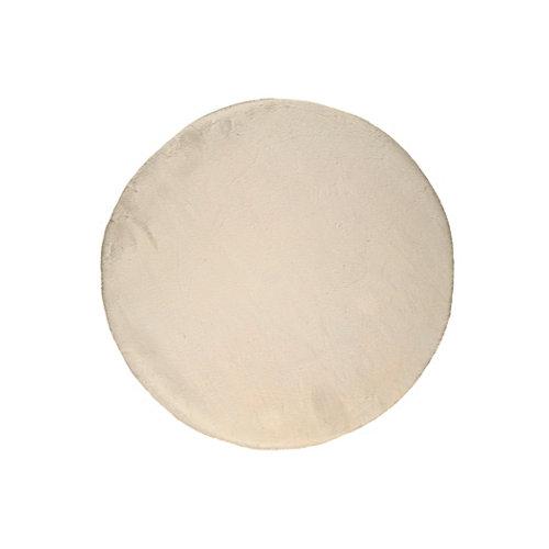 Alfombra de interior beige poliéster fox liso 120 x 120cm