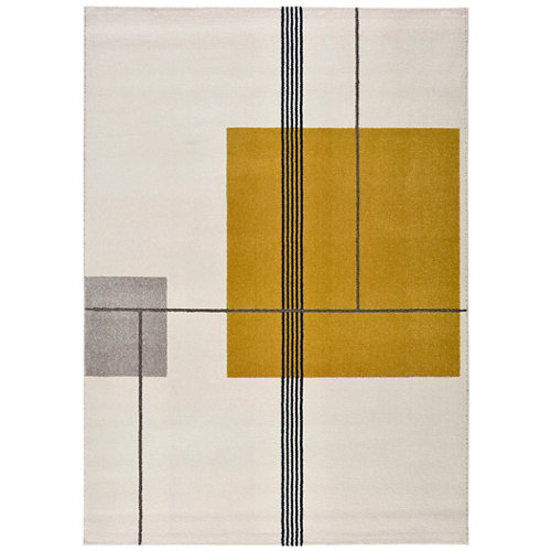 Alfombra de interior amarilla polipropileno emberá 160 x 230cm