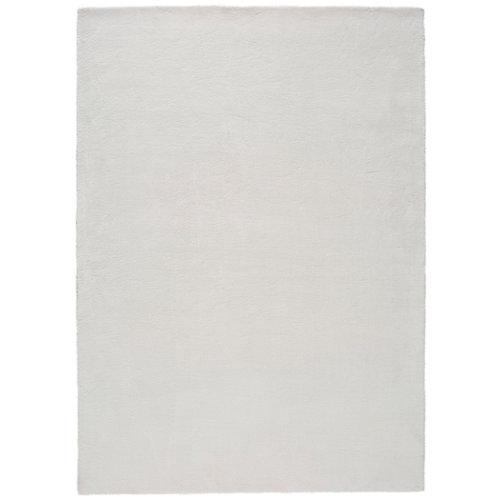 Alfombra de interior blanca poliéster berna liso 160 x 230cm