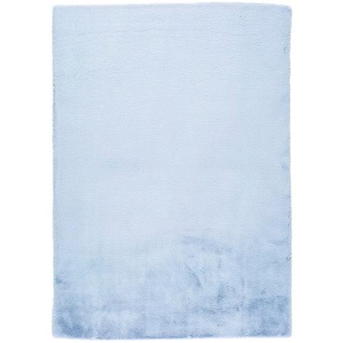Alfombra de interior azul poliéster fox liso 60 x 110cm