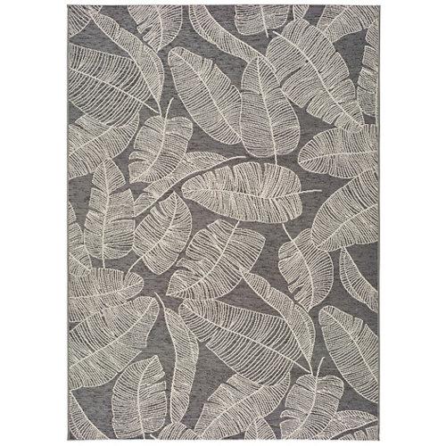 Alfombra pie de cama gris polipropileno norberg 80 x 150cm