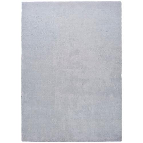 Alfombra pie de cama gris poliéster berna liso 80 x 150cm