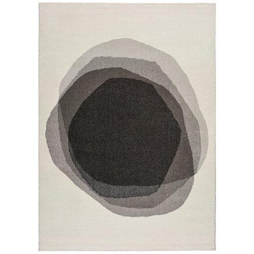 Alfombra pie de cama negra polipropileno siona 60 x 110cm
