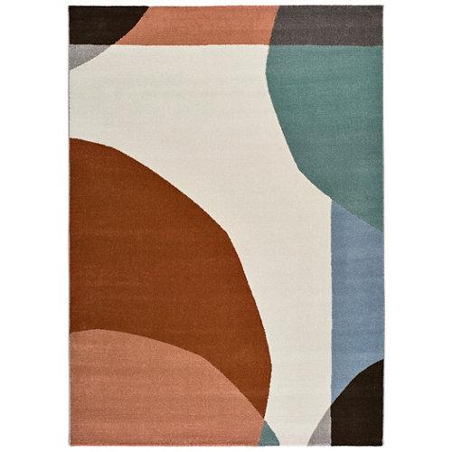Alfombra pie de cama multicolor polipropileno lenca 60 x 110cm