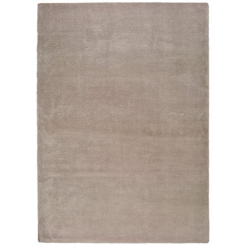 Alfombra pie de cama beige poliéster berna liso 80 x 150cm