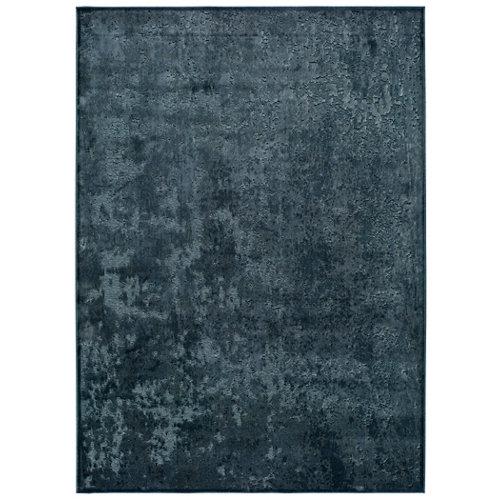 Alfombra pie de cama azul viscosa laiana 60 x 110cm