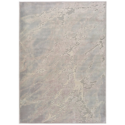 Alfombra pie de cama multicolor viscosa piélago 60 x 110cm