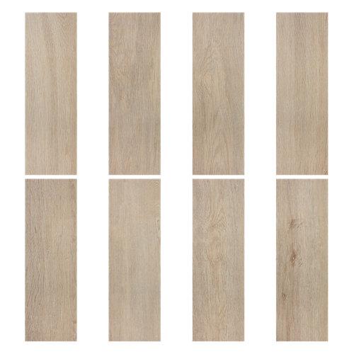 Pavimento porcelánico artens chimney wood beige 20.2x60.4 cm