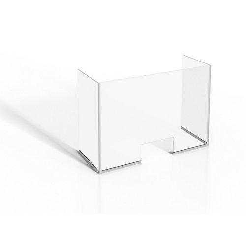 Mampara protectora vidrio templado a 100x90cm
