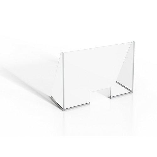 Mampara protectora vidrio templado b 100x90cm
