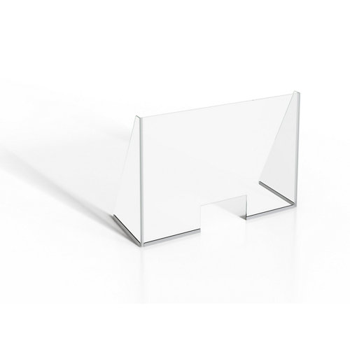 Mampara protectora vidrio templado b 140x90cm