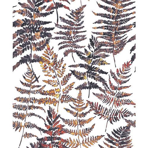 Papel pintado vinílico sin pvc eco helecho blanco