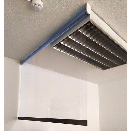 Mampara de protección enrollable transparente de 100 x240cm