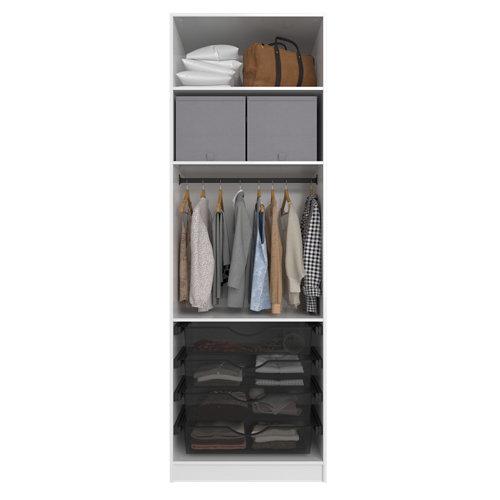 Composición nº1 spaceo home armario kit vestidor sin puertas blanco 240x80x60cm