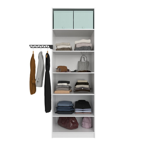 Composición nº2 spaceo home armario kit vestidor sin puertas blanco 240x80x60cm