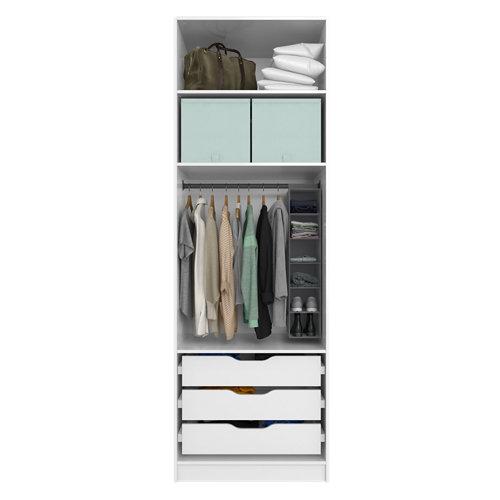 Composición nº4 spaceo home armario kit vestidor sin puertas blanco 240x80x60cm