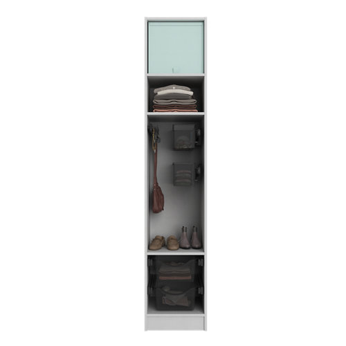 Composición nº8 spaceo home armario kit vestidor sin puertas textil 240x40x60cm