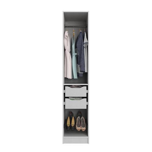 Composición nº9 spaceo home armario kit vestidor sin puertas textil 240x40x60cm
