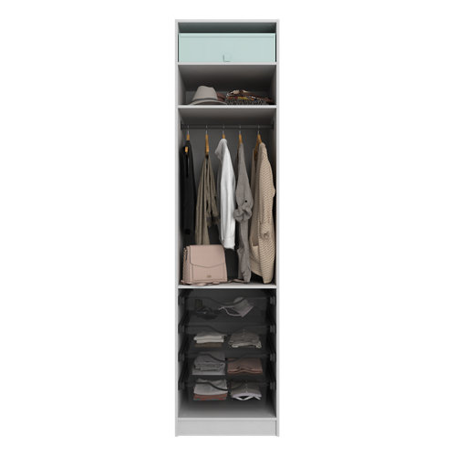 Composición nº20 spaceo home armario kit vestidor sin puertas textil 240x60x60cm