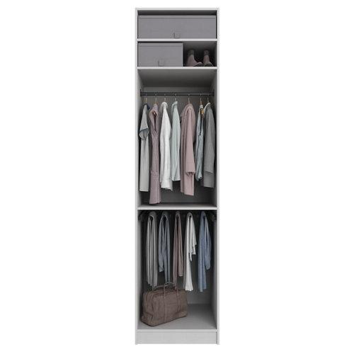 Composición nº22 spaceo home armario kit vestidor sin puertas textil 240x60x60cm
