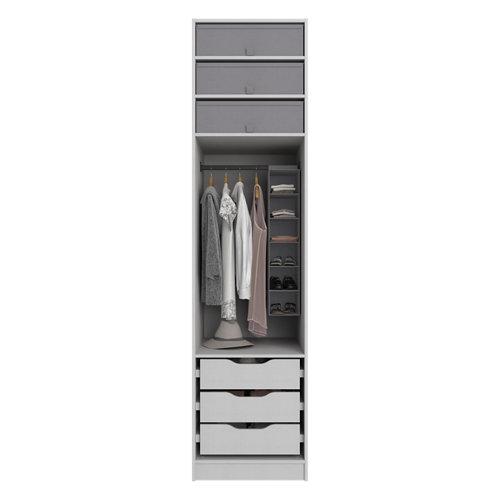 Composición nº23 spaceo home armario kit vestidor sin puertas textil 240x60x60cm
