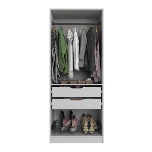Composición nº28 spaceo home armario kit vestidor sin puertas textil 240x80x60cm