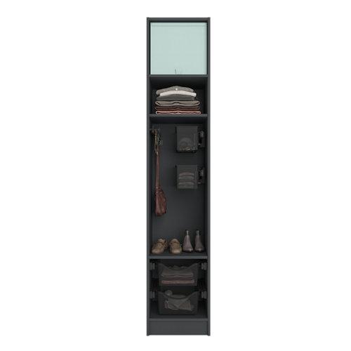 Composición nº31 spaceo home armario kit vestidor sin puertas textil 240x40x60cm