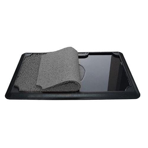 Felpudo gris con bandeja apta para desinfectante 45 x 70 cm