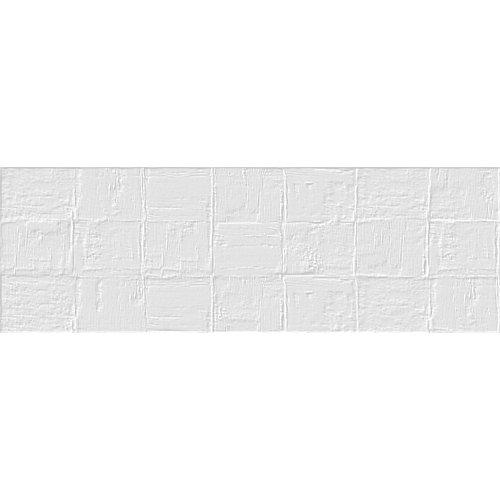 Revestimiento con relieve platz blanco mate 33,3x100 cm