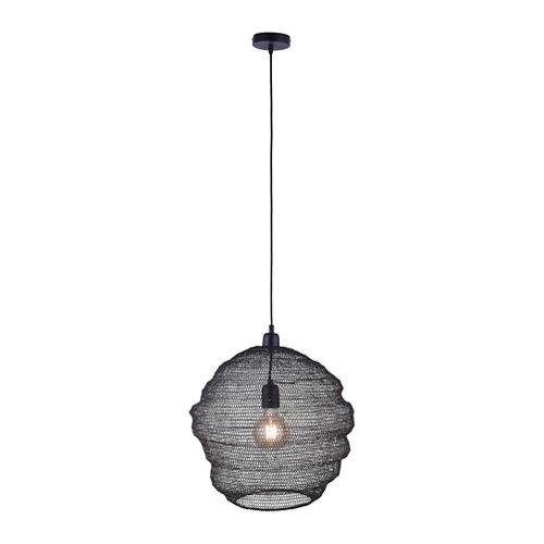 Lámpara kokon de 1 luz negra
