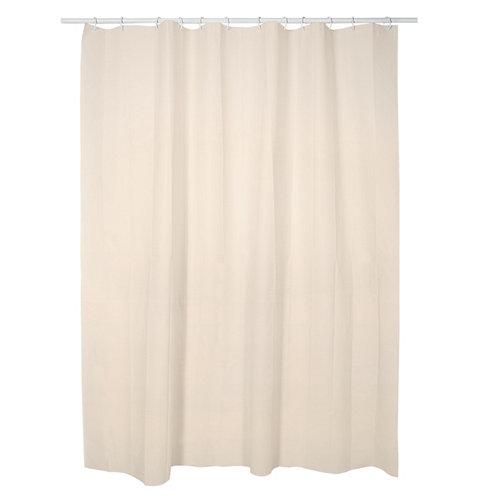 Cortina de baño beige 180x200 cm