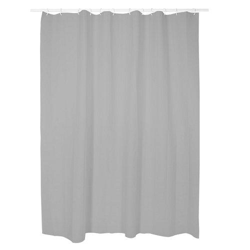 Cortina de baño gris 180x200 cm