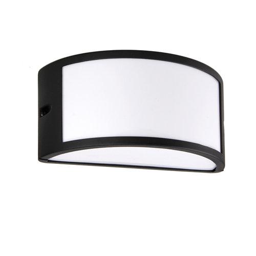 Aplique de exterior silvia negro ip44 inspire