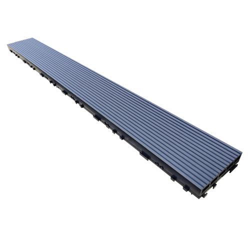 Lama encajable de composite gris / plata 15x120cm de 34 mm