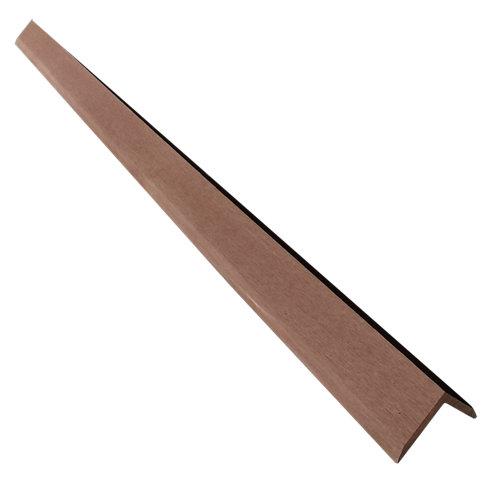 Rodapié de composite marrón de 4x5.5 cm