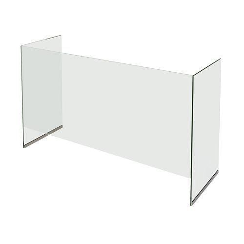 Mampara vidrio templado d 100x90 cm