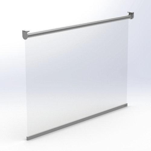 Mampara enrollable roll up 100 x70 cm ignifuga