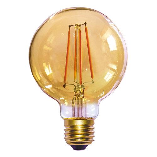 Bombilla led filamento g125 e27 8w 2700k gold