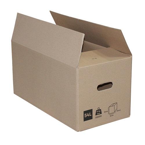 Caja de mudanza de 54 l de 30x60x30 cm y carga máx. 25 kg