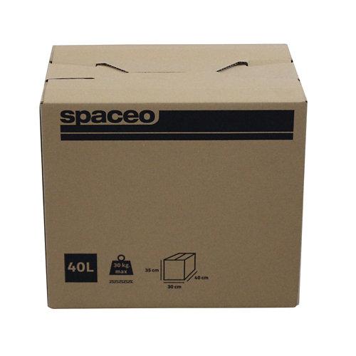 Caja de mudanza de 40 l de 35x40x30 cm y carga máx. 20 kg