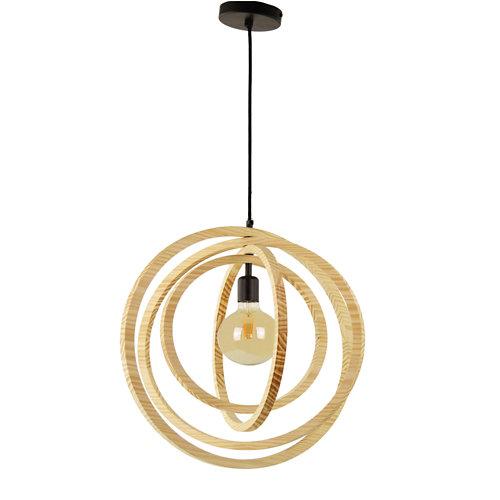 Lámpara multiaro 1 luz madera