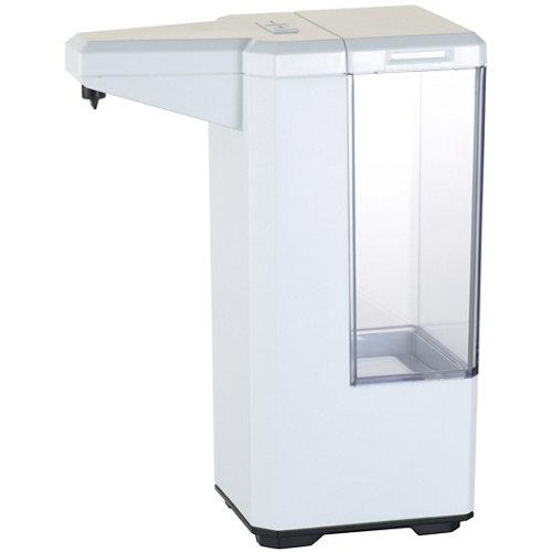 Dispensador de jabón automático a pared y sobrenesa blanco